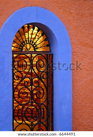 Ornate archway - stock photo