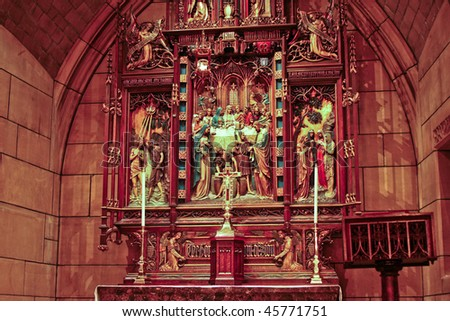 ornate beautiful altar in a church