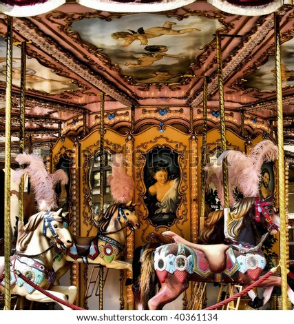 ornate carousal merry go round