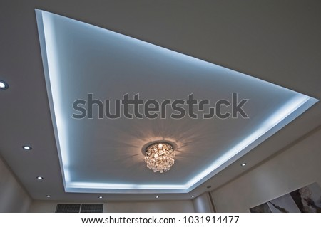 Ornate chandelier style ceiling light inside stock photo 1031914477 ornate chandelier style ceiling light inside luxury apartment with led lighting surround aloadofball Images