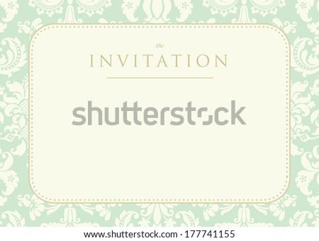 Ornate damask background - stock photo
