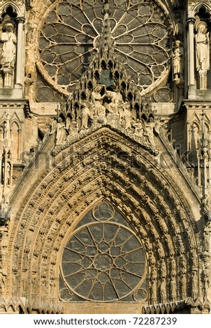 Ornate Decorations, Reims Cathedral, France