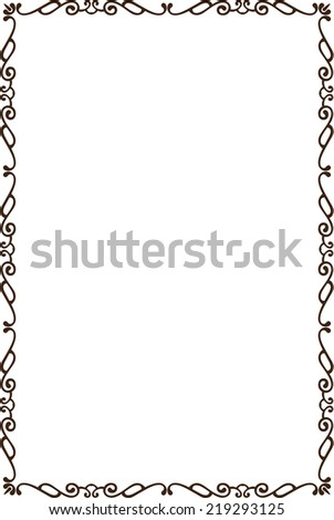 Ornate frame is isolated on white