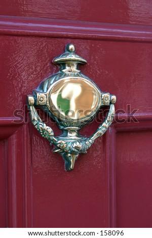 Ornate Georgian Door Knocker - stock photo