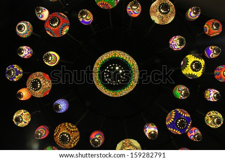 Ornate Glass Lamps  - stock photo