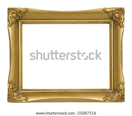 Ornate Gold Picture Frame - stock photo