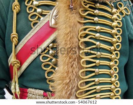 Ornate military uniform - stock photo