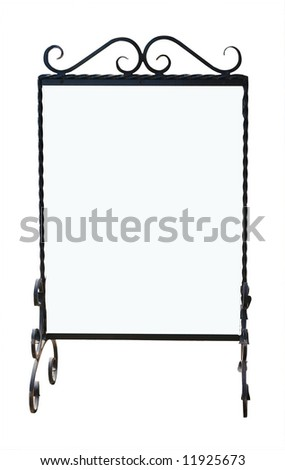 Ornate notice board with copy space Isolated with clipping path