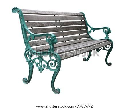 Ornate park Seat - stock photo
