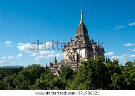 Ornate Temple, Bagan, Myanmar (Burma). - stock photo
