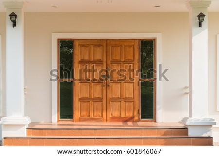 Ornate wooden teak door interior stock photo 601846067 shutterstock ornate wooden teak door interior planetlyrics Image collections