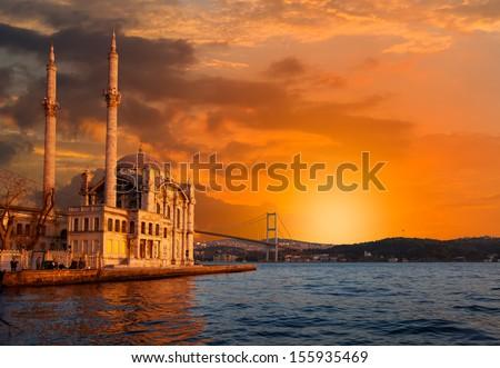 Ortakoy Mosque  - stock photo