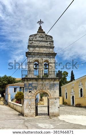 Orthodox church in Agalas Village, Zakynthos, Ionian islands, Greece - stock photo
