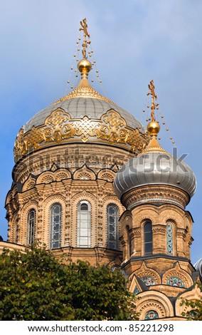 Orthodox Church in Saint-Petersburg, Russia - stock photo
