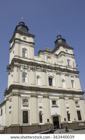 Orthodox Church in the center of Ivano-Frankivsk - stock photo