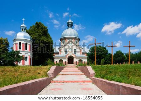 Orthodox church in  Ukraine - stock photo