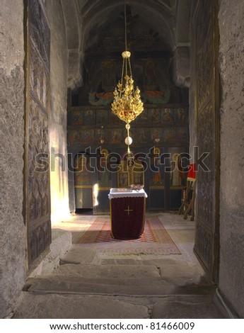 Orthodox church interior. - stock photo