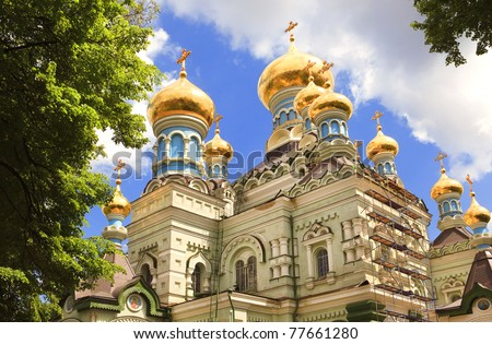 Orthodox church, Kiev, Ukraine - stock photo