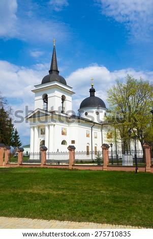 Orthodox Church of the Ascension. Shrine of Kyrylo Rozumovsky - the last Hetman of Ukraine. Baturin, Ukraine. - stock photo