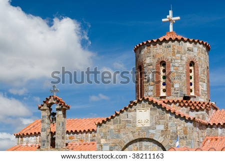 Orthodox church on Crete, Greece - stock photo