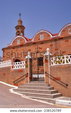 Orthodox church on the Greek island of Rhodes  - stock photo