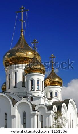 ORTHODOX CHURCH Syktyvkar, Respublic Komi, Russia - stock photo