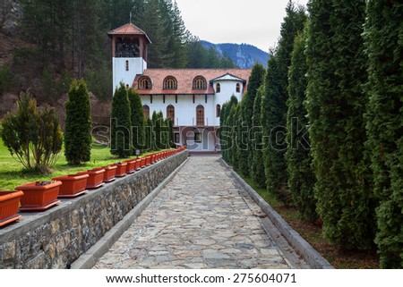 Orthodox monastery Dobrun in Bosnia&Hercegovina - stock photo