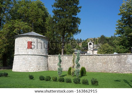 Orthodox monastery in Cetinje, Montenegro. - stock photo