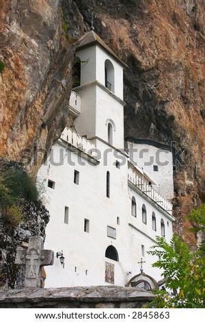 Orthodox monastery of Ostrog, Montenegro. - stock photo