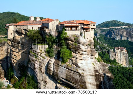 Orthodox Monastery Varlaam on the rock, near Kalampaka, Meteora,  Fessalia, Greece