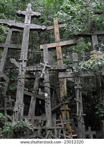 Orthodox place of worship (Grabarka, Poland). - stock photo