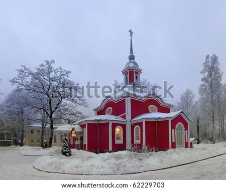 Orthodoxal Saint Peter and Paul church, St.Petersburg, Russia - stock photo