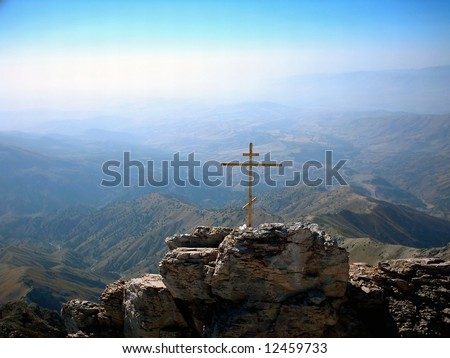 Orthodoxy cross on the Chimgan mount