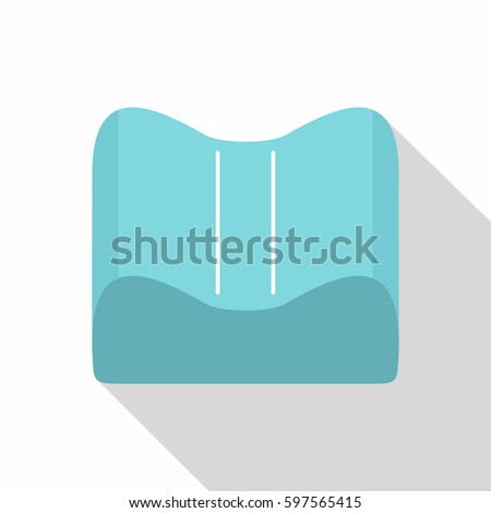 orthopedic pillow icon flat of orthopedic pillow icon for web