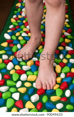 Orthopedic rug for children - stock photo