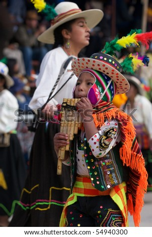 ORURO, BOLIVIA - FEBRUARY 2: Oruro Carnival in Bolivia, declared UNESCO Cultural World Heritage. February 2, 2008 in Oruro, Bolivia