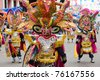 ORURO, BOLIVIA - MARCH 5: Devil Dancers at Oruro Carnival in Bolivia, declared UNESCO Cultural World Heritag on March 5, 2011 in Oruro, Bolivia - stock photo