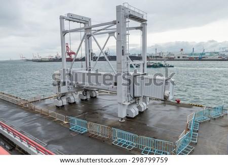 Osaka container ports, Marine Cargo - stock photo