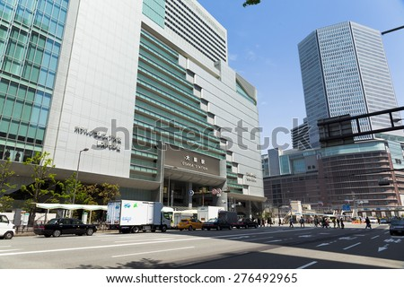 OSAKA,JAPAN - APRIL 21 : JR Osaka Station on April 21,2015 in Osaka, Japan. It is a major railway station in the Umeda district of Kita-ku, Osaka, Japan, operated by West Japan Railway Company.