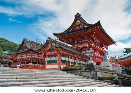 Osaka temple - stock photo