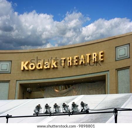 Oscar academy award at the Kodak Theather in Los Angeles - stock photo