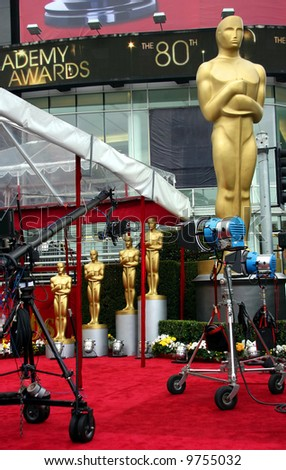 Oscar academy awards at the Kodak Theather in Los Angeles - stock photo