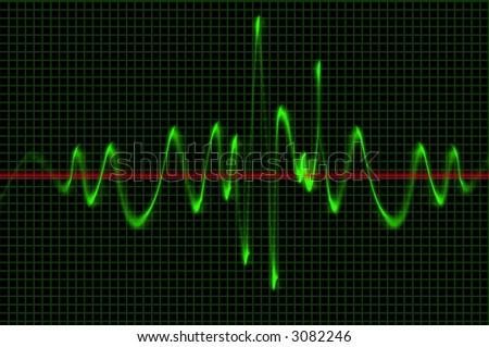 Oscilloscope Wave Sound Pattern - stock photo