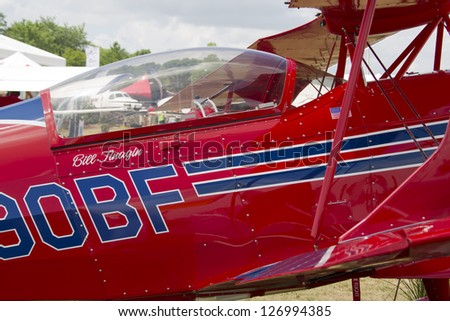 OSHKOSH, WI - JULY 27: Close up of Red Pitts S-2C Plane on display at the 2012 AirVenture at EAA on July 27, 2012 in Oshkosh, Wisconsin.
