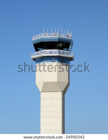 Oshkosh, Wisconsin, world's busiest control tower during annual air show - stock photo