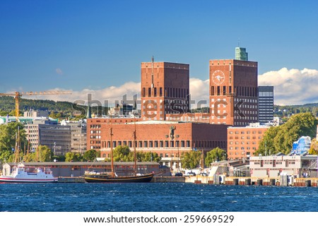 Oslo City Hall, Norway - stock photo