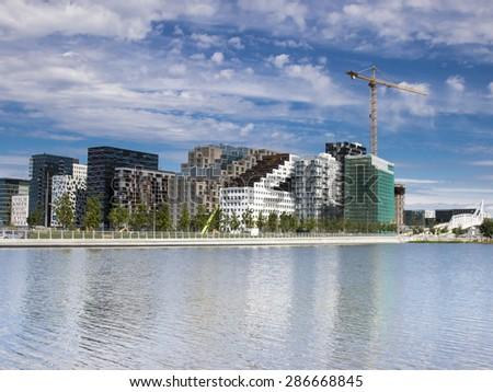 Oslo, Downtown, Bjoervia  bjørvika Norway  - stock photo
