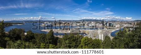Oslo harbor, Norway - stock photo