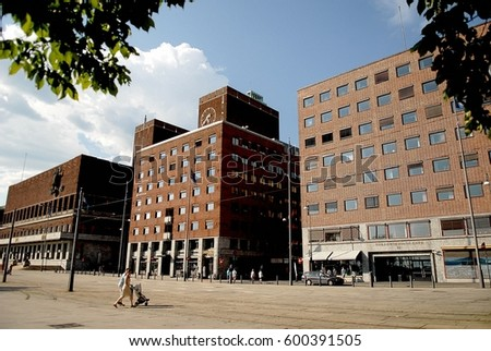 Oslo, Norway - July 22, 2014: The Oslo City Hall. The Oslo City Hall is house of the city council and city administration. The house was built in 1950.