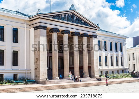 OSLO, NORWAY - JULY 29: The University of Oslo is the oldest and largest university in Norway in Oslo, on July 29, 2014